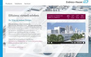 Endress+Hauser Virtuelle Anlage