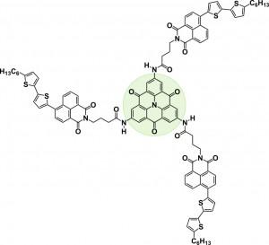 Chemische Struktur des scheibchenförmigen Bausteins. Grafik: Andreas T. Haedler