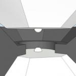 Schemazeichnung der Stempelzelle: Die Osmium-Probe (roter Punkt) misst nur 3 µm und sitzt zwischen zwei Halbkugeln aus nanokristallinem Diamant. (Bild: Elena Bykova / Universität Bayreuth)