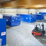 PROTECTO Regalcontaineranlage für Großbrauerei   Foto: PROTECTO