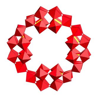 Hergestellt und charakterisiert in Bremen: Polyoxometallat mit der eindrucksvollen Summenformel [H7P8W48O184]33-, kurz P8W48, macht den Unterschied. Als Katalysator in Brennstoffzellen übertrifft. | Grafik: Jacobs University
