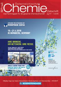 Österreichische Chemie Zeitschrift, Ausgabe 01, 2016