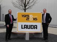 Die LAUDA DR. R. WOBSER GMBH & CO. KG in Lauda-Königshofen wird heute 60 Jahre alt. Das Bild zeigt den Geschäftsführenden Gesellschafter Dr. Gunther Wobser (links) und Geschäftsführer Dr. Marc Stricker. | Foto: LAUDA