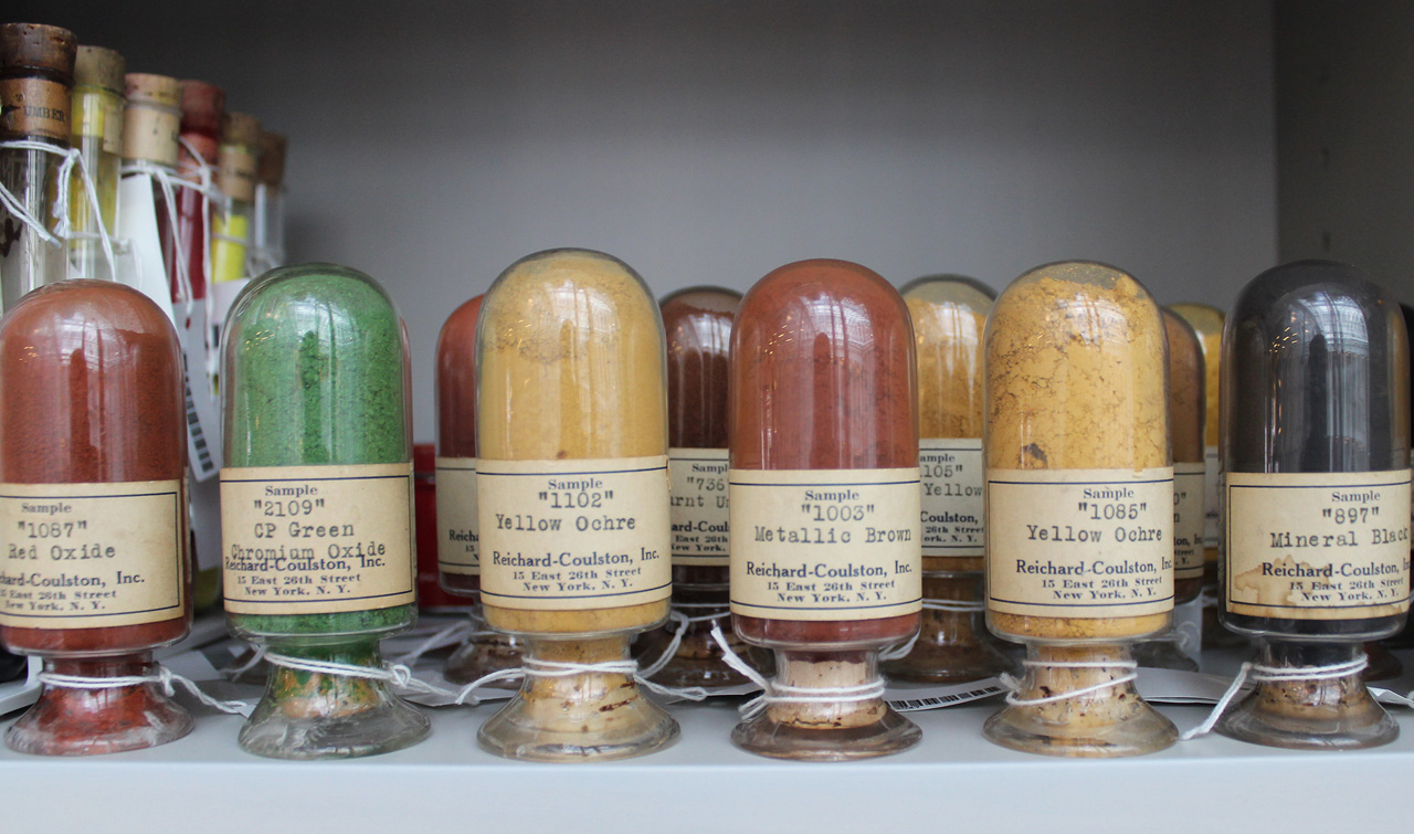 Die fünf rarsten Farben in der Harvard Pogment Library   Foto: President and Fellows of Harvard College