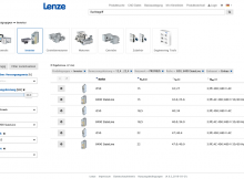Produkte mit den individuell verwendbaren Suchfiltern schnell finden. | Foto: Lenze SE