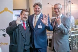 Auf dem User Meeting: Werner Gruber, Robert Kaubek, Bernhard Majcen (Moderator)   Foto: Shimadzu