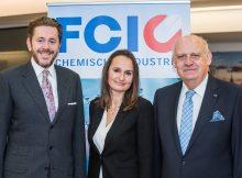 FCIO Innovation Day 2016 - v.l.n.r. Staatssekretär Harald Mahrer; Sylvia Hofinger, Geschäftsführerin FCIO; Hubert Culik, Obmann FCIO