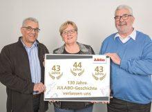 v.l.n.r.: Hans-Peter Flach, Christiane Enders und Hans Faißt verlassen JULABO zum Jahresende in den Ruhestand. | Foto: JULABO
