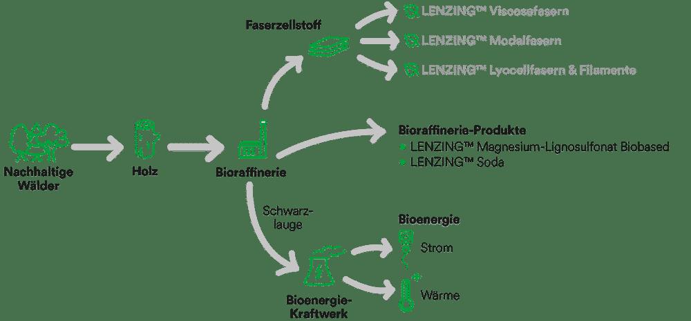 Nachhaltigkeit bei Lenzing   Grafik: Lenzing