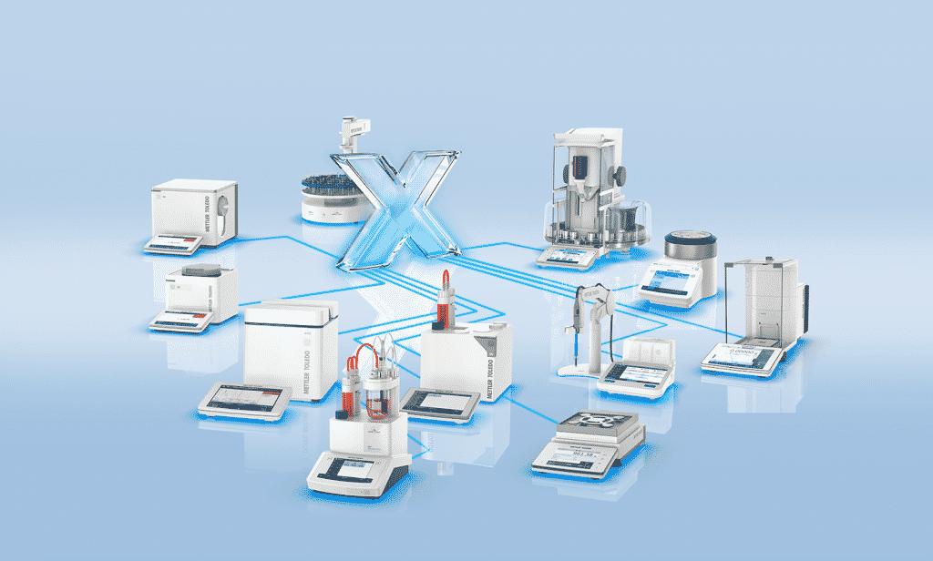 Lean Lab - LabX ermöglicht die nahtlose Integration verschiedener Instrumente der Excellence-Linie in eine Multiparameterplattform.   Grafik: Mettler-Toledo