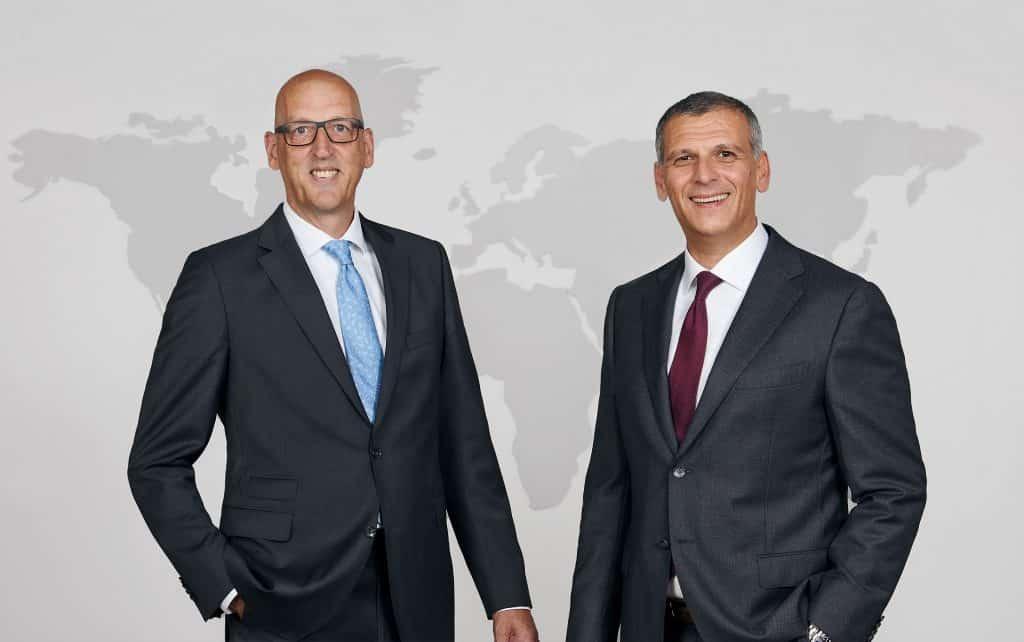 Die neue Geschäftsführung der Biesterfeld Spezialchemie: Peter Wilkes (links) und Sergej Lazovic (rechts) | Foto: Biesterfeld AG